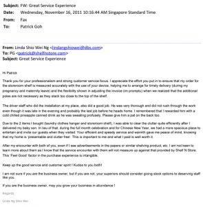 Testimonial from Ms Linda