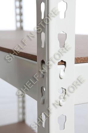 beige boltless decking